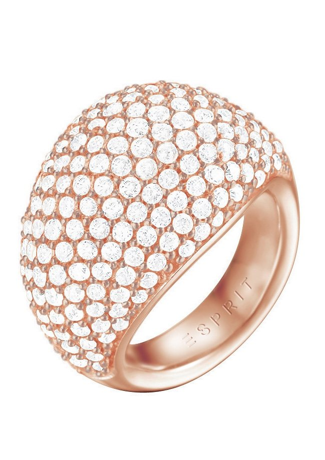 Esprit Ring, mit Zirkonia, »ESPRIT-JW50055 rose, ESRG02034C170-190« in roségoldfarben