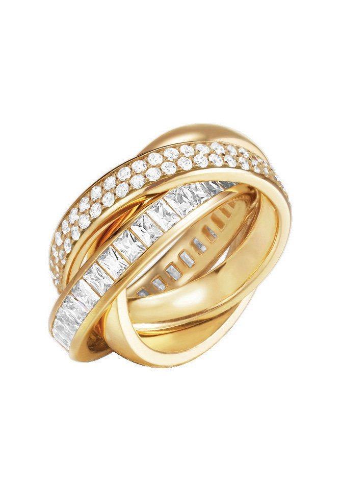 Esprit Ring, mit Zirkonia, »ESPRIT-JW50058 gold, ESRG02258B170-190« in goldfarben