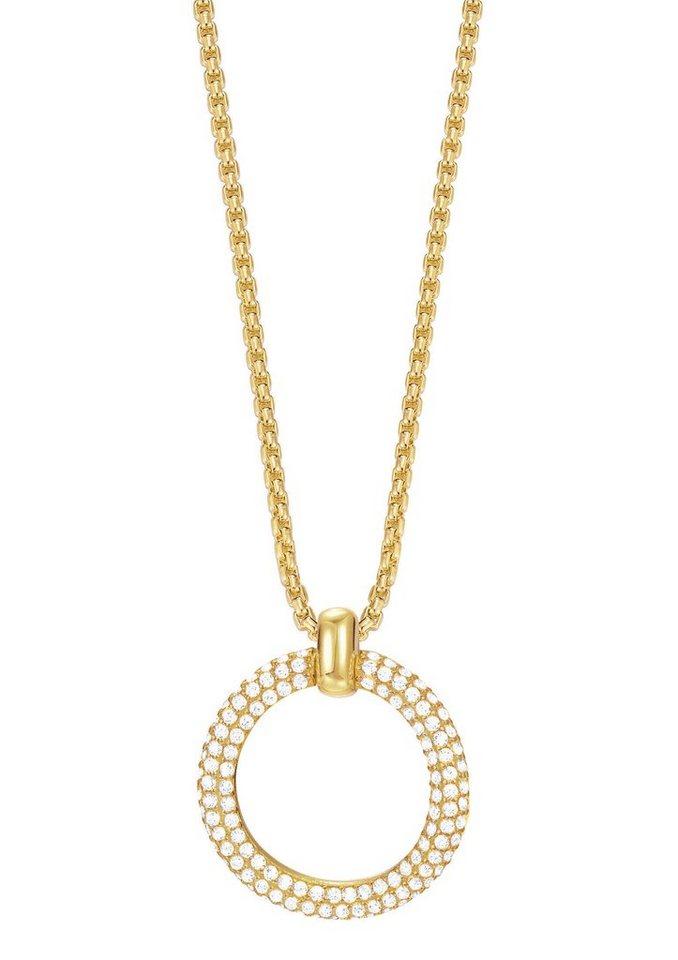 Esprit Halskette, mit Zirkonia, »ESPRIT-JW50059 gold, ESNL03009B420« in goldfarben