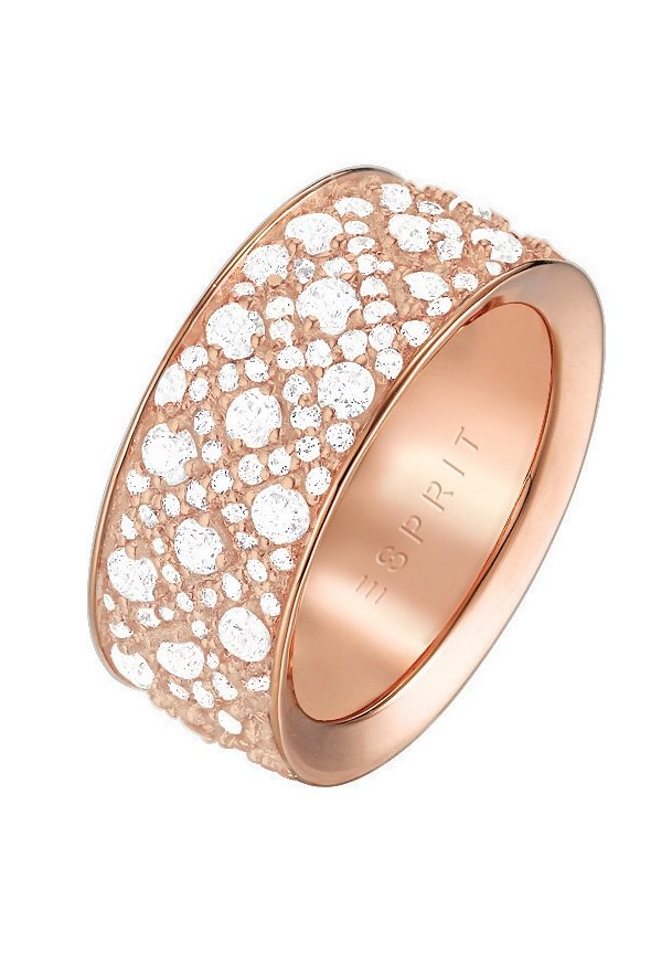 Esprit Ring, mit Zirkonia, »ESPRIT-JW50056 rose, ESRG02347C170-190« in roségoldfarben