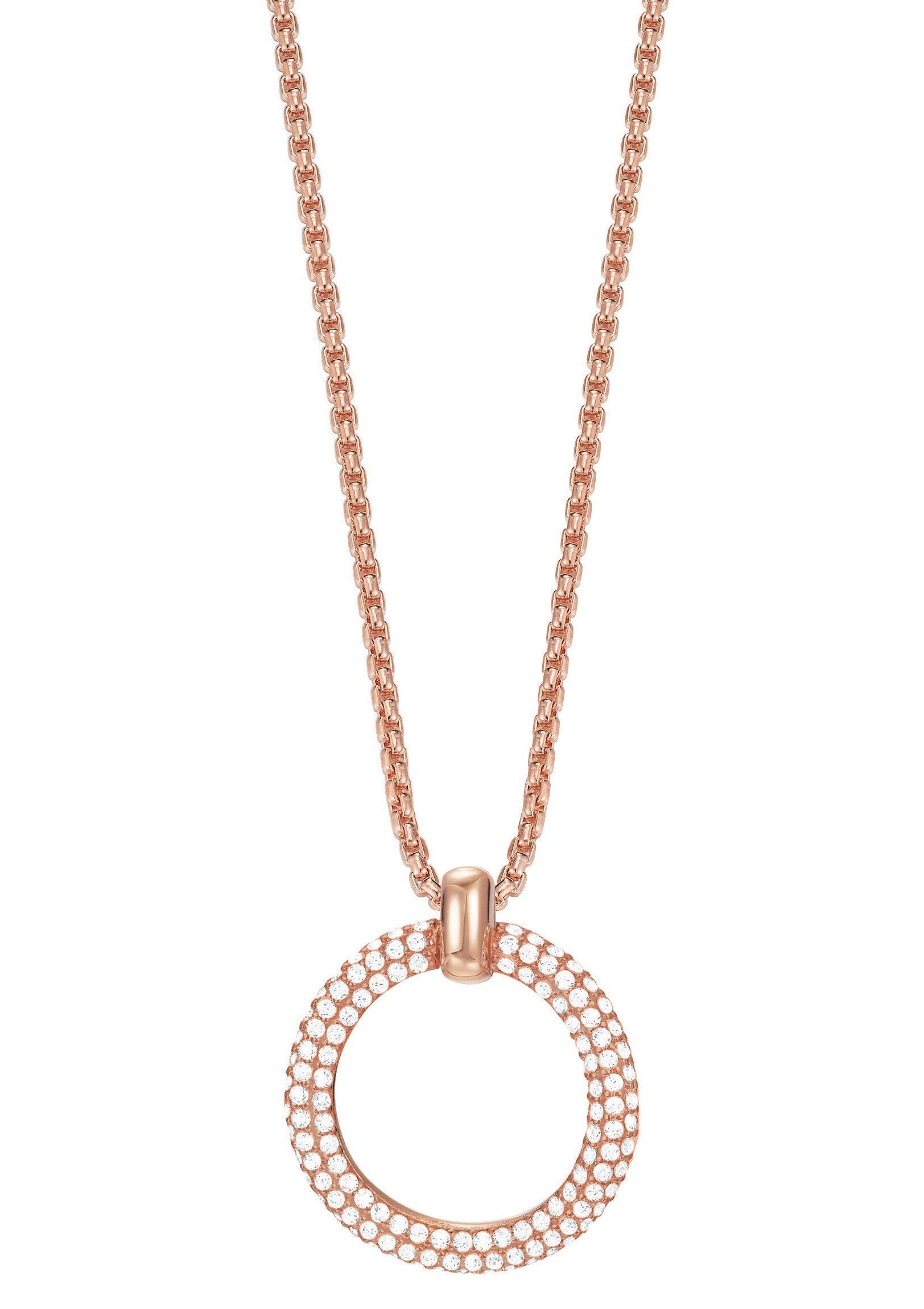 Esprit Halskette, mit Zirkonia, »ESPRIT-JW50059 rose, ESNL03009C420«