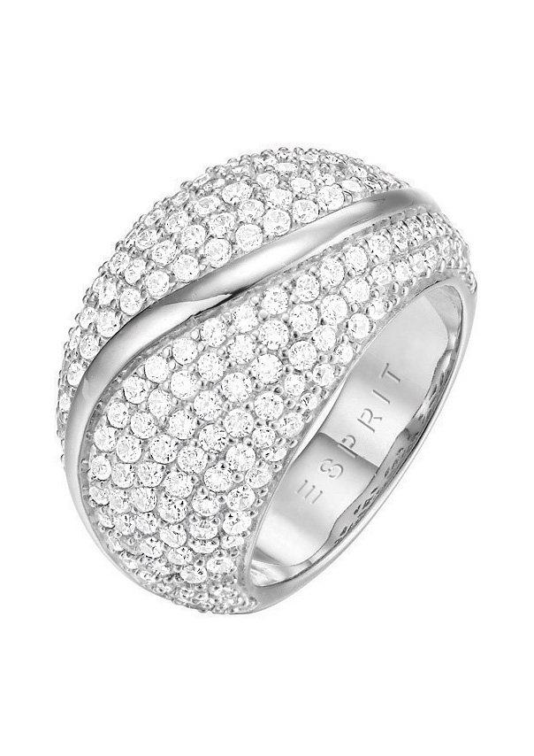 Esprit Ring, mit Zirkonia, »ESPRIT-JW50054, ESRG02844A170-190« in silberfarben