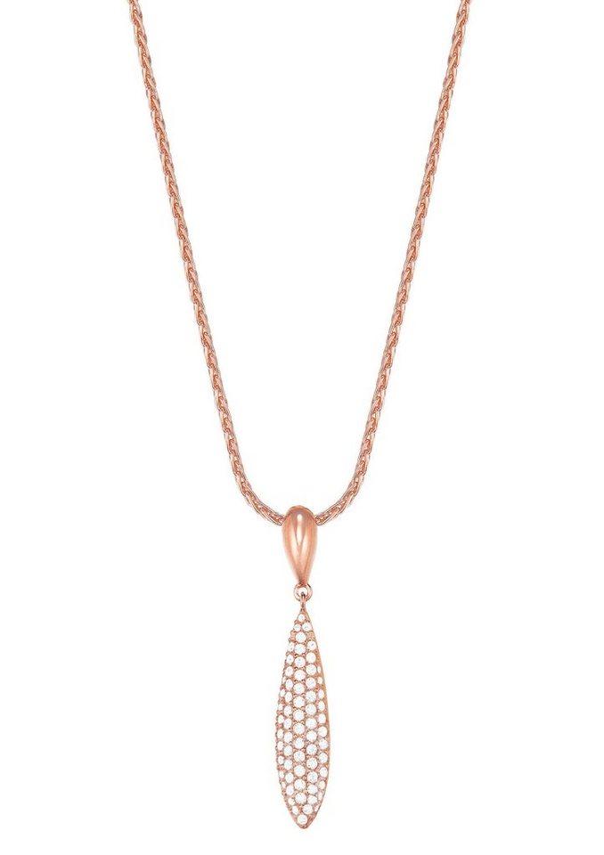 Esprit Halskette, mit Zirkonia, »ESPRIT-JW50053 rose, ESNL03370C420« in roségoldfarben