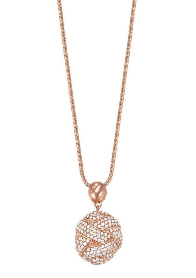 Esprit Halskette, mit Zirkonia, »ESPRIT-JW50060 rose, ESNL02752C800« in roségoldfarben