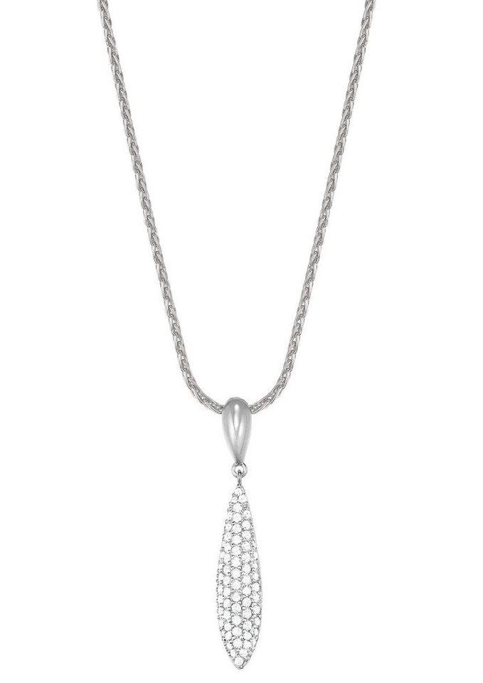 Esprit Halskette, mit Zirkonia, »ESPRIT-JW50053, ESNL03370A420« in silberfarben