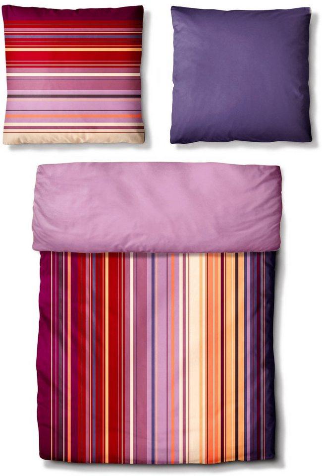 Bettwäsche, Auro Hometextile, »Casual Range«, in harmonischen Farben in multi