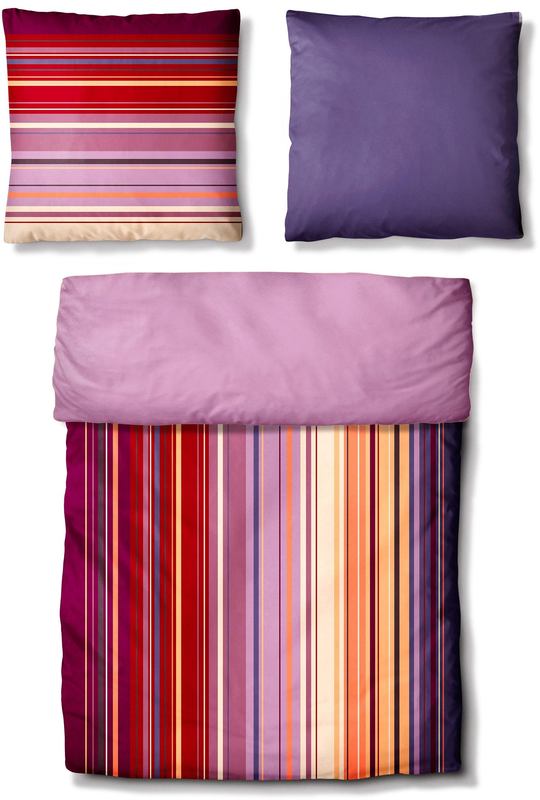 Bettwäsche, Auro Hometextile, »Casual Range«, in harmonischen Farben