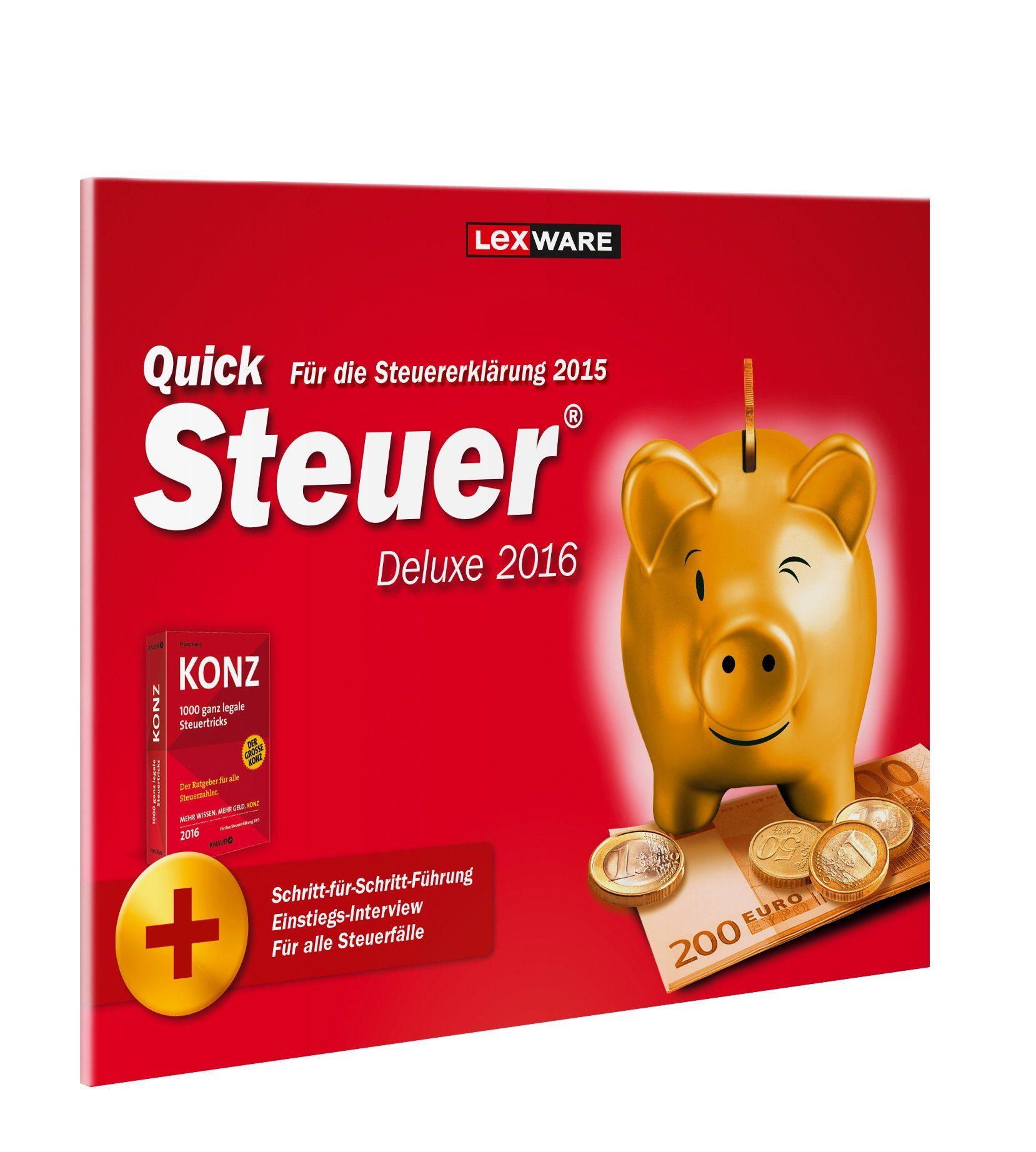 Lexware Finanzen/Steuer »Quicksteuer Deluxe 2016 Frustfreie Verpackung«