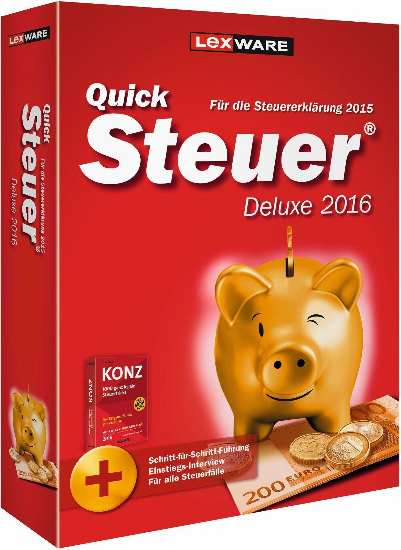 Lexware Finanzen/Steuer »Quicksteuer Deluxe 2016«