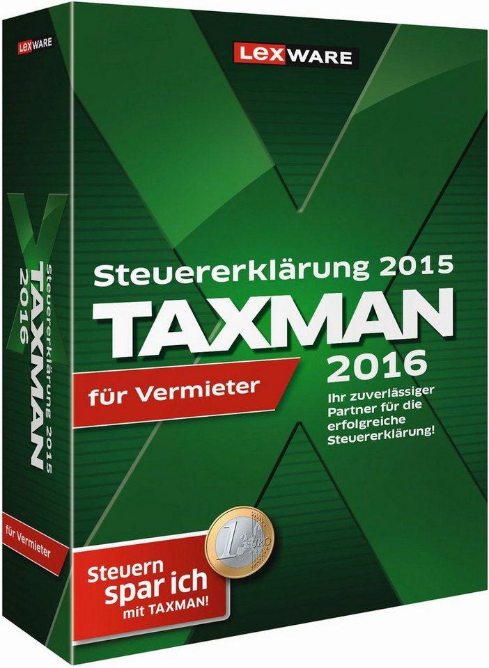 Lexware Finanzen/Steuer »TAXMAN 2016 FUER VERMIETER«