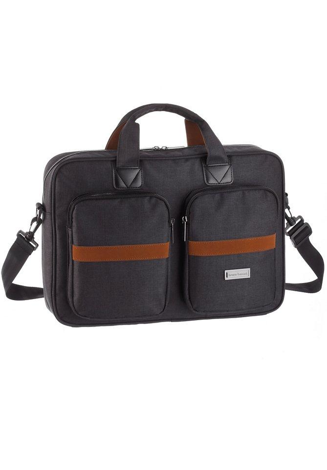 Bruno Banani Messenger Bag mit gepolstertem Laptopfach in grau