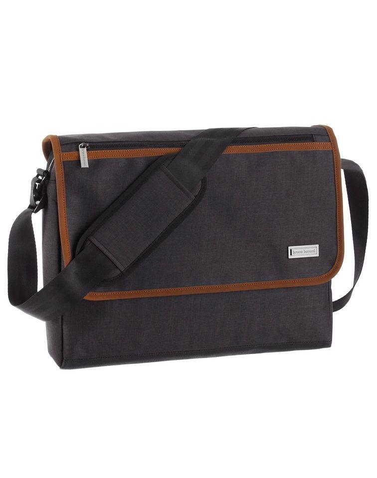 Bruno Banani Messenger Bag mit gepolstertem Laptopfach in grau-orange