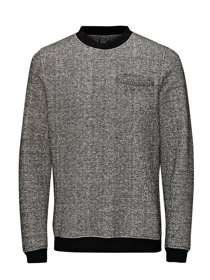 Jack & Jones Melangestrick- Sweatshirt in Black