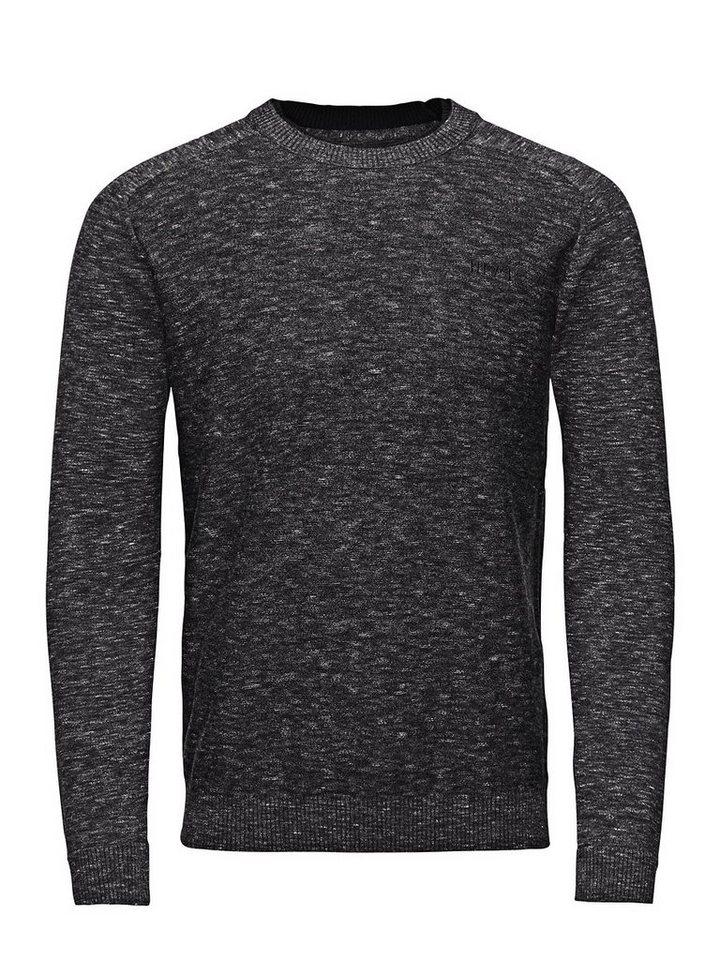 Jack & Jones Lässiger Strick- Pullover in Black