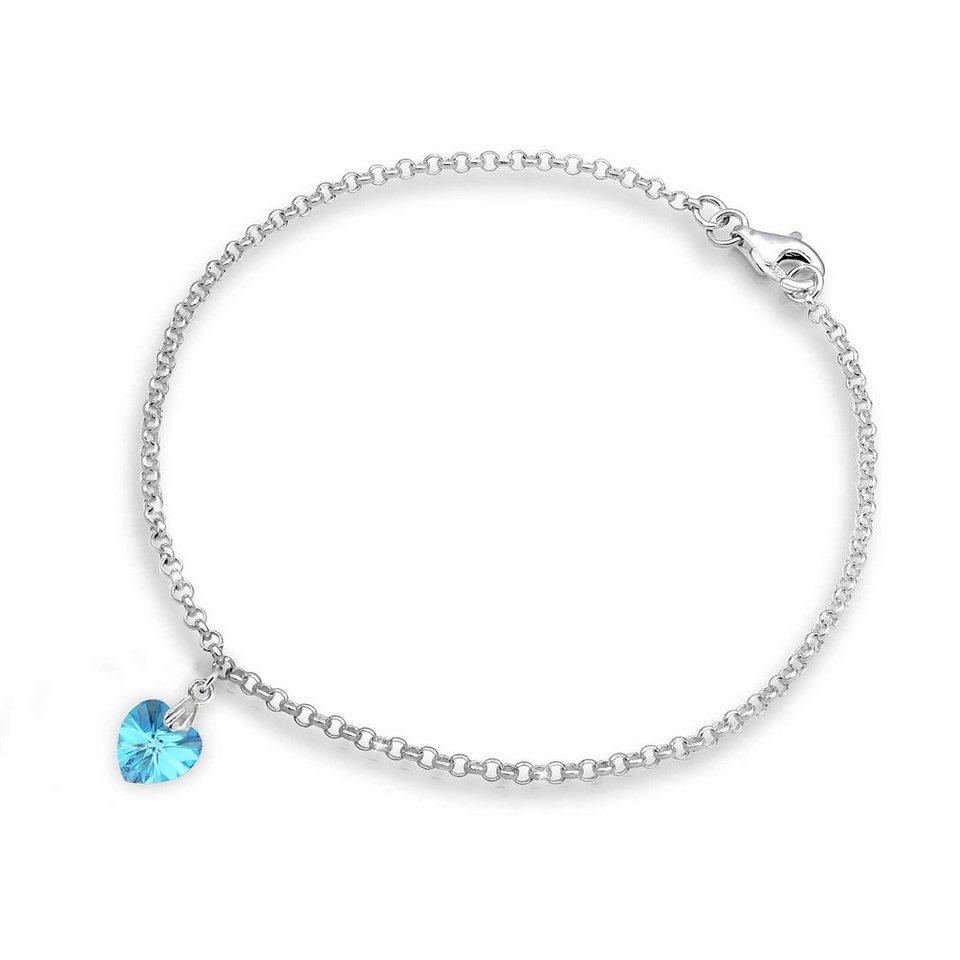 Elli Armband mit türkisfarbenem Swarovski® Kristall, »Livia, 0204851112« in Silber 925/türkis