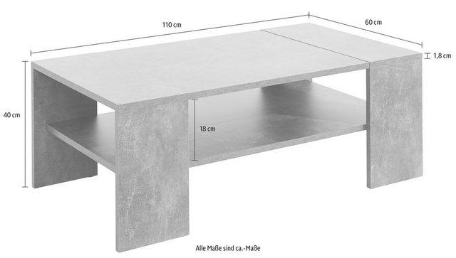 Wohnzimmertische - Paroli Couchtisch, mit Ablageboden  - Onlineshop OTTO