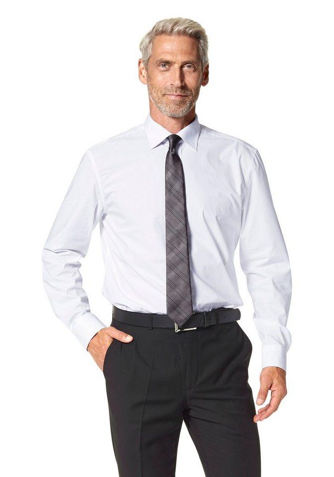 Studio Coletti Businesshemd (Set, 3 tlg., mit Krawatte und Einstecktuch) in weiß