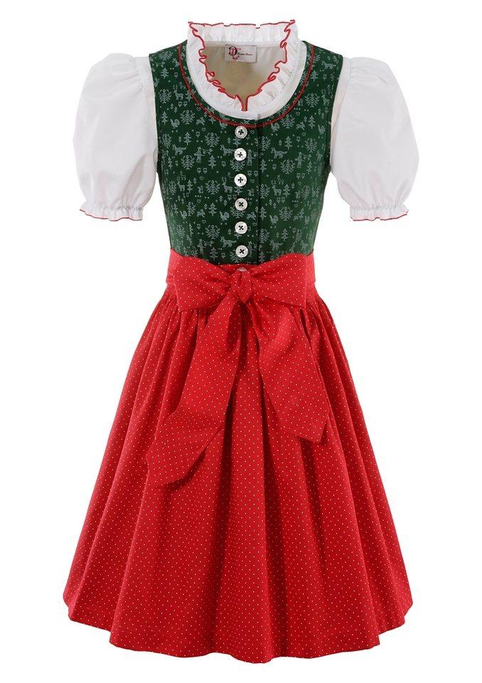 Dirndl Kinder, Turi Landhaus (3tlg.) in grün/rot