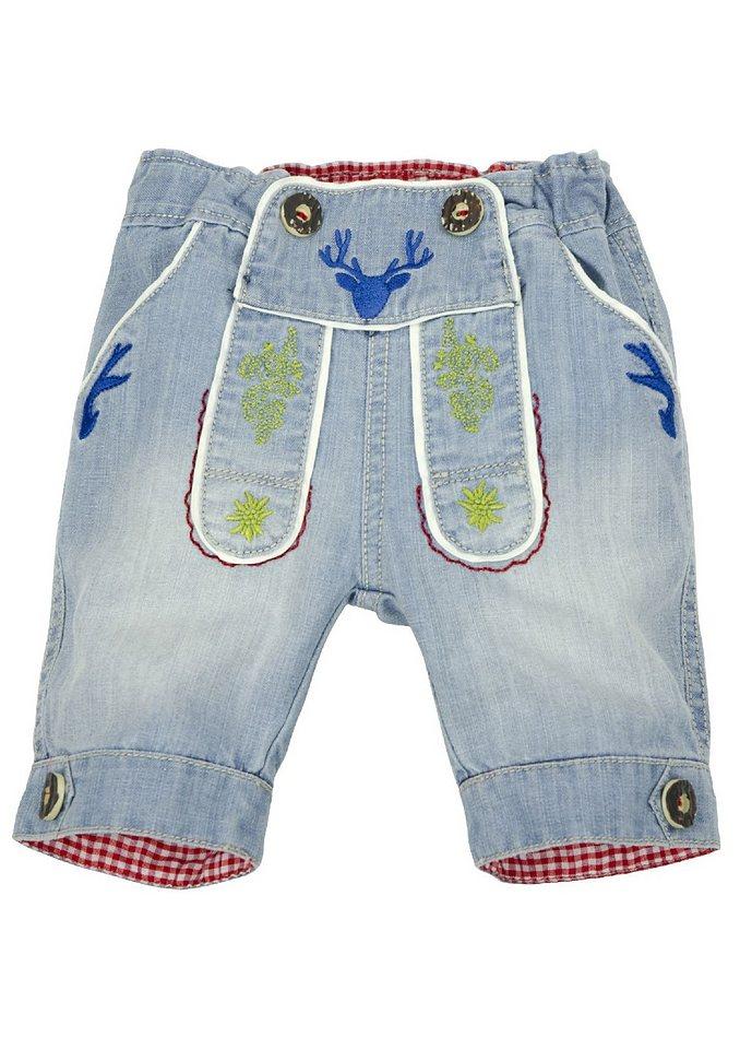 trachten jeans bermuda mit stickerei bondi kaufen otto. Black Bedroom Furniture Sets. Home Design Ideas