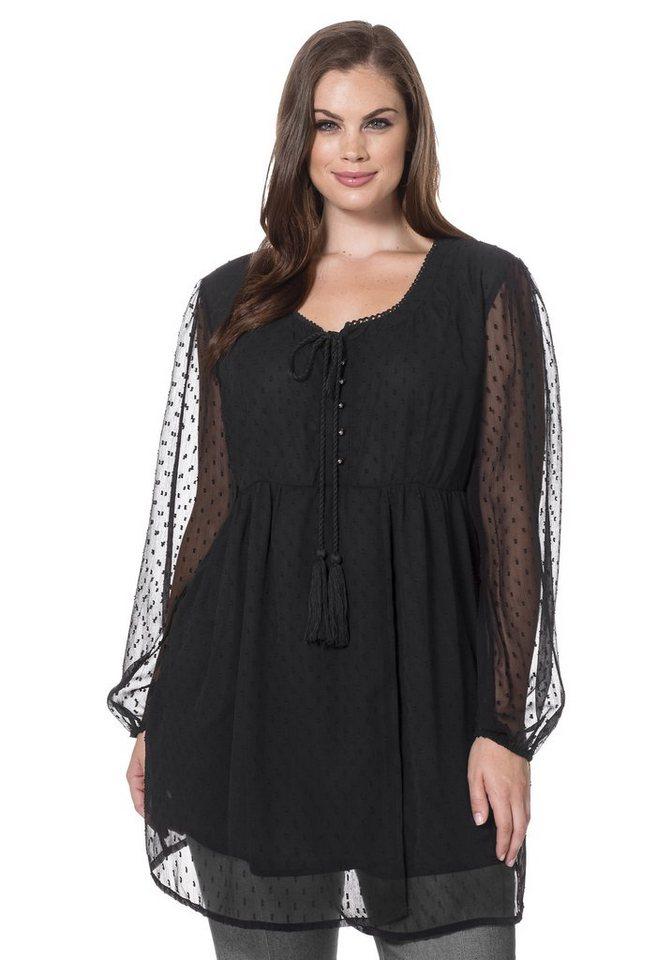 sheego Style Longtunika in schwarz