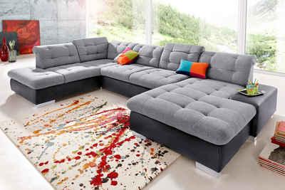 wohnlandschaft braun strukturstoff, xxl sofa & xxl couch online kaufen | otto, Design ideen