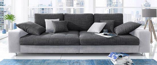 Nova Via Big-Sofa, wahlweise mit Kaltschaum (140kg Belastung/Sitz) und RGB-LED-Beleuchtung