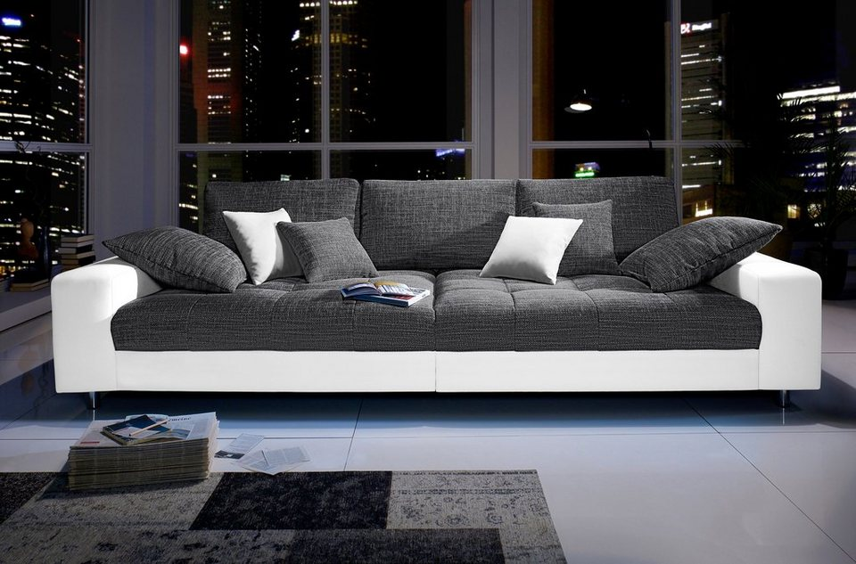 big sofa grau perfect big sofa aus greigen flachgewebe. Black Bedroom Furniture Sets. Home Design Ideas