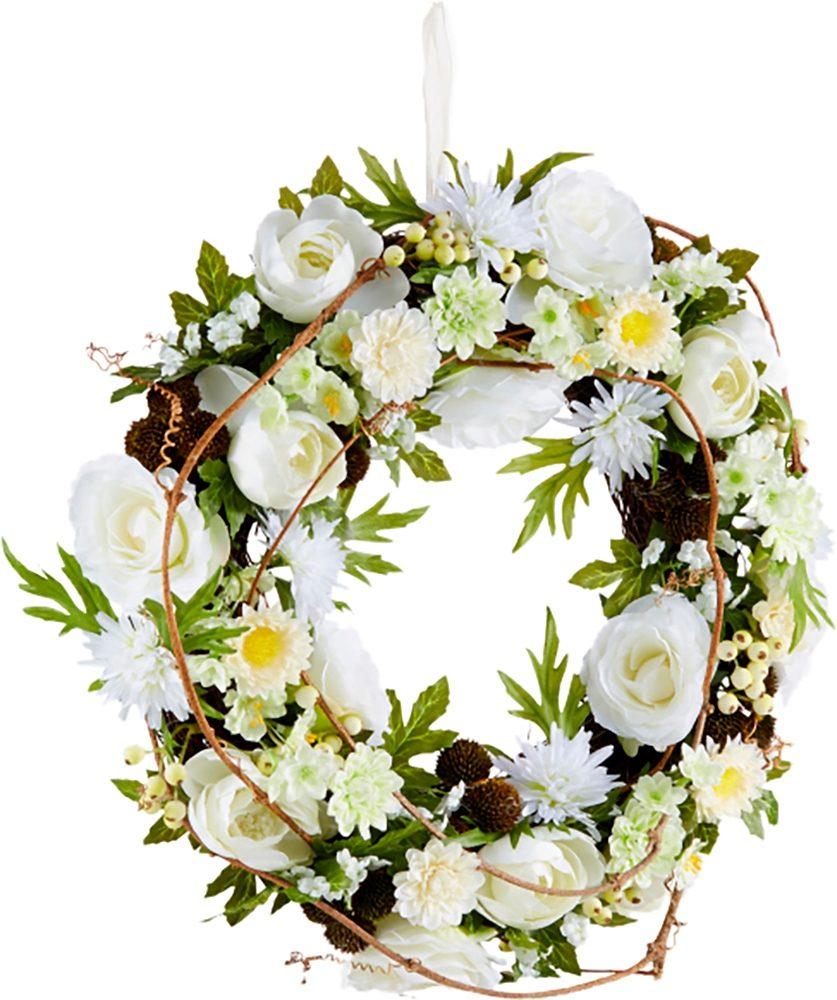 Home affaire Kunstblumen-Kranz »Blüten«