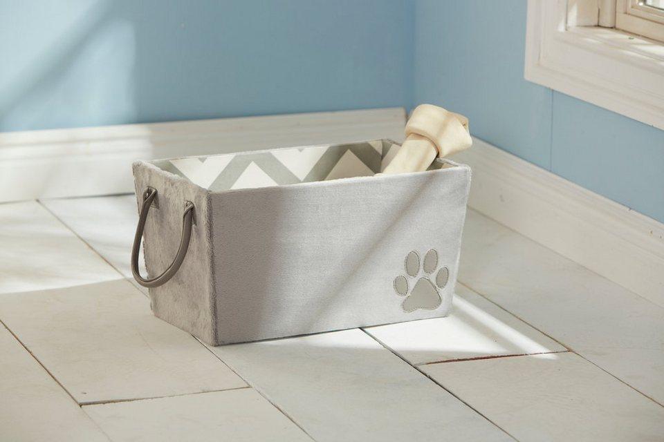 Home affaire Tragebox für Hundespielzeug in grau
