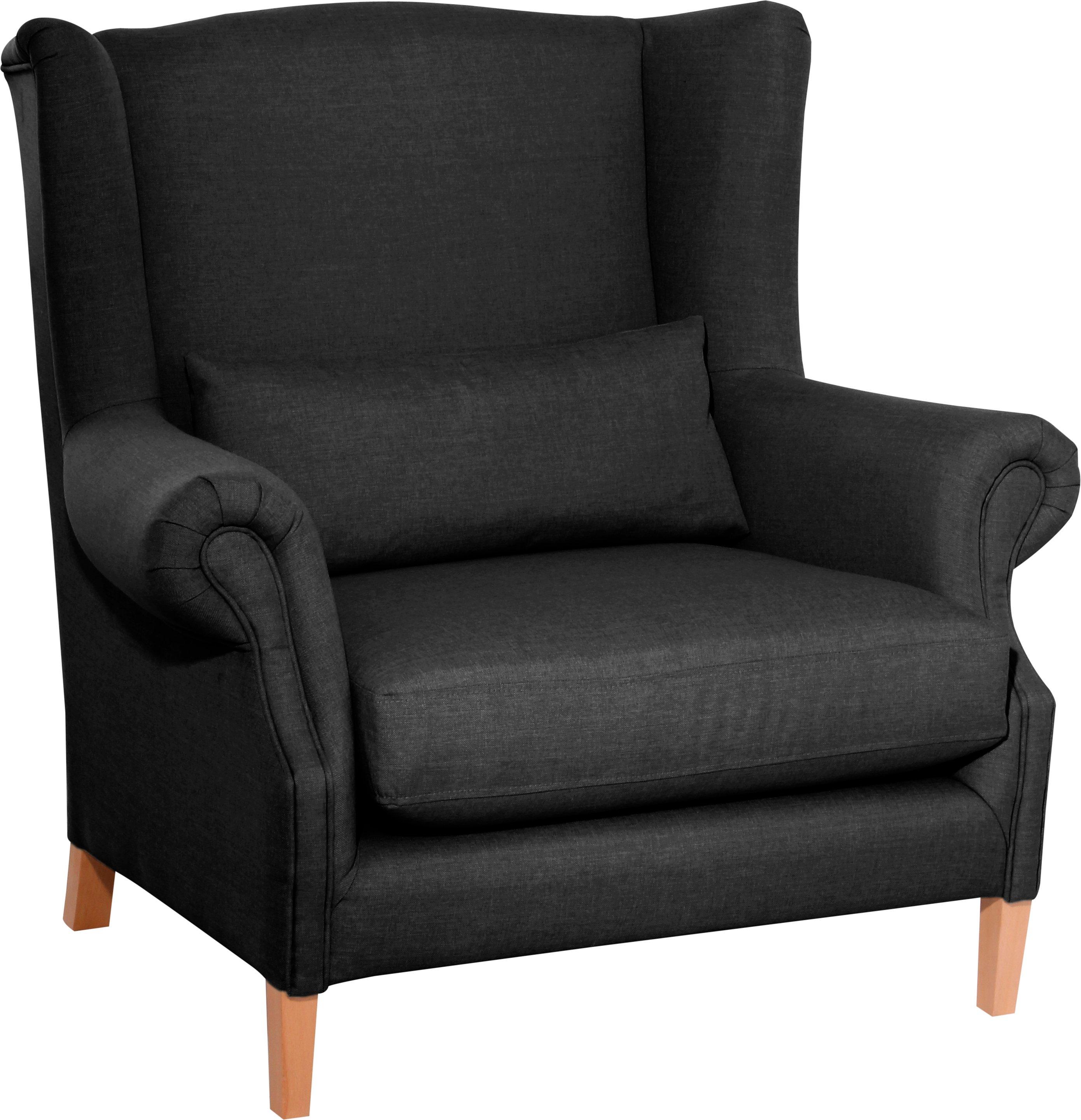 Max Winzer® Ohrensessel »Henry«, inklusive Zierkissen | Wohnzimmer > Sessel > Ohrensessel | Buche - Microfaser | Max Winzer®