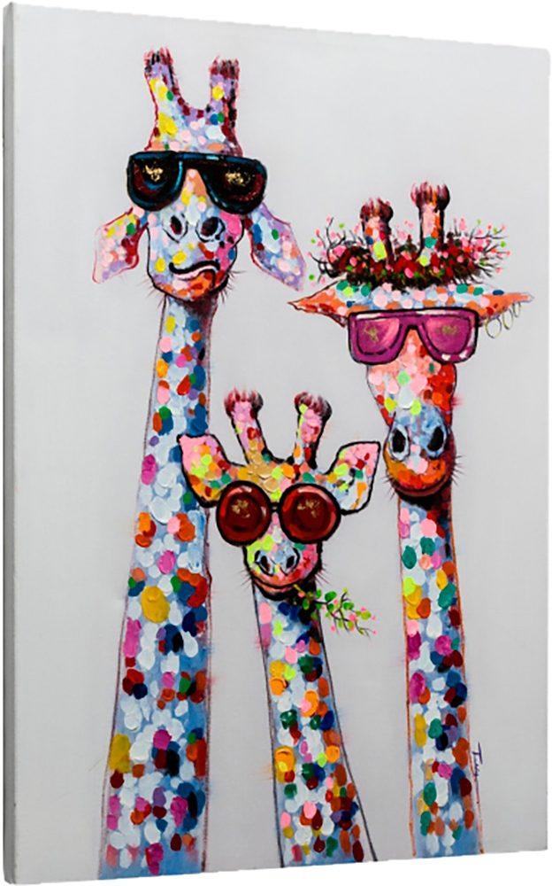 Home affaire Leinwandbild »Giraffen« 73,5/103,5 cm