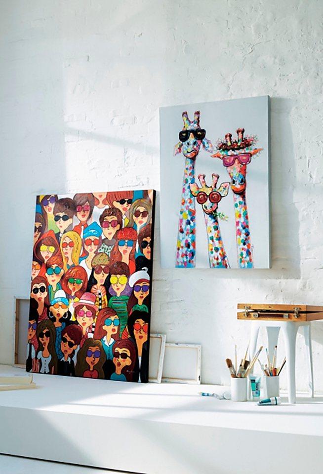Home affaire Leinwandbild »Giraffen« 73,5/103,5 cm in braun