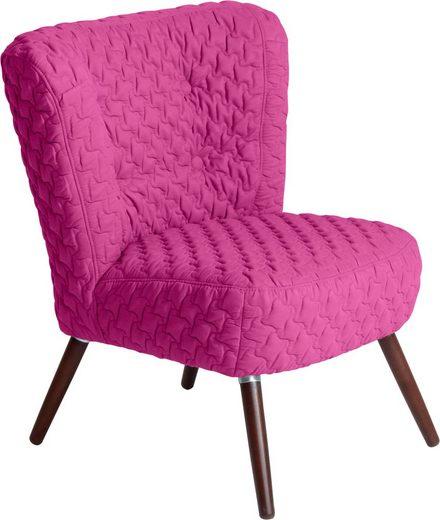 Max Winzer® Sessel »Nikki«, im Retrolook, mit gestepptem Bezug