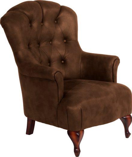 Max Winzer® Chesterfield-Sessel »Clara«, mit edler Knopfheftung