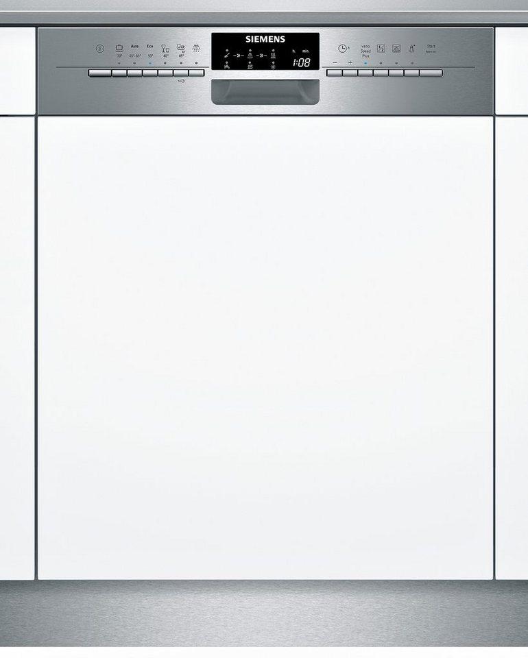Siemens integrierbarer Einbau-Geschirrspüler SN56P591EU, Energieklasse A++, 9,5 Liter, 14 Maßgedecke in Edelstahl