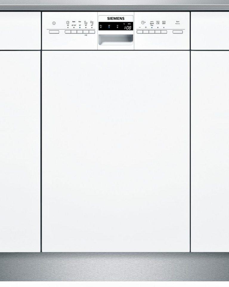 Siemens integrierbarer Einbaugeschirrspüler SR55M286EU, Energieklasse A+, 9,5 Liter, 10 Maßgedecke in weiß
