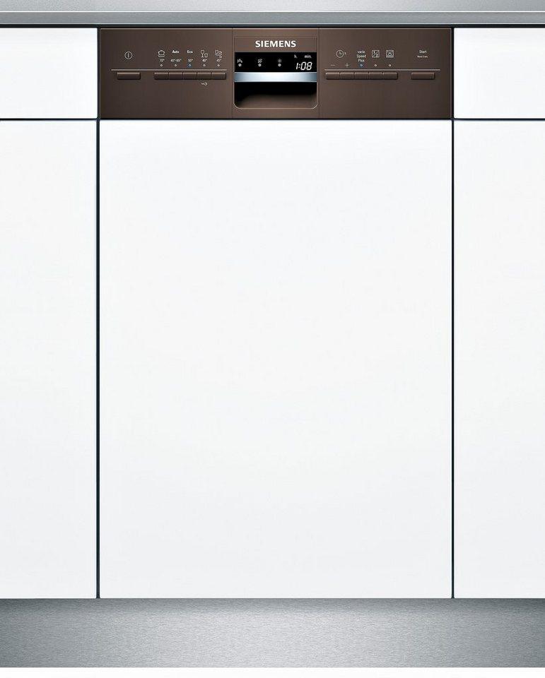 Siemens integrierbarer Einbaugeschirrspüler SR55M486EU, Energieklasse A+, 9,5 Liter, 10 Maßgedecke in braun