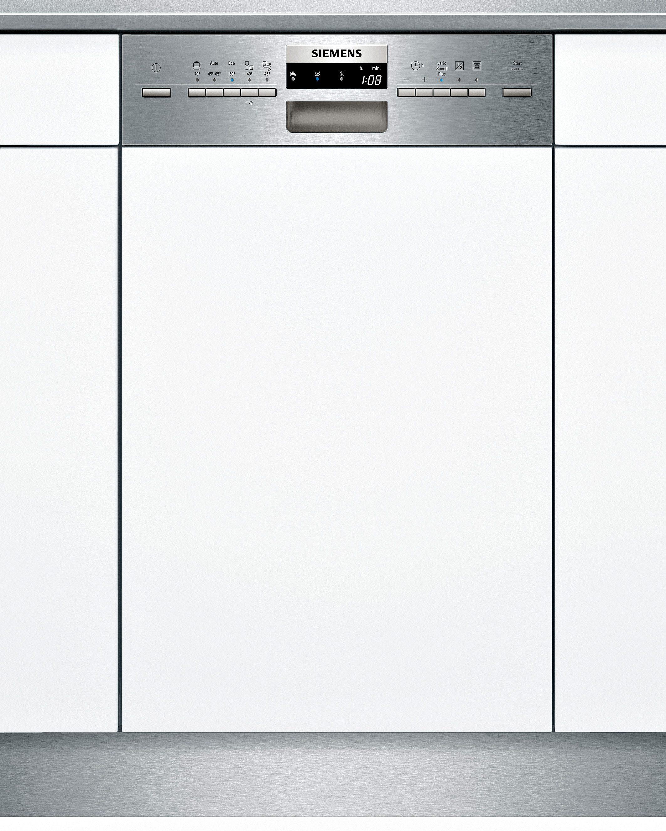Siemens integrierbarer Einbaugeschirrspüler SR55M586EU, Energieklasse A+, 9,5 Liter, 10 Maßgedecke