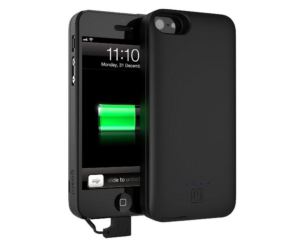 GOSH Schutzhülle mit Akku »Parallel 2500 mAh iPhone 5/5S Schwarz«
