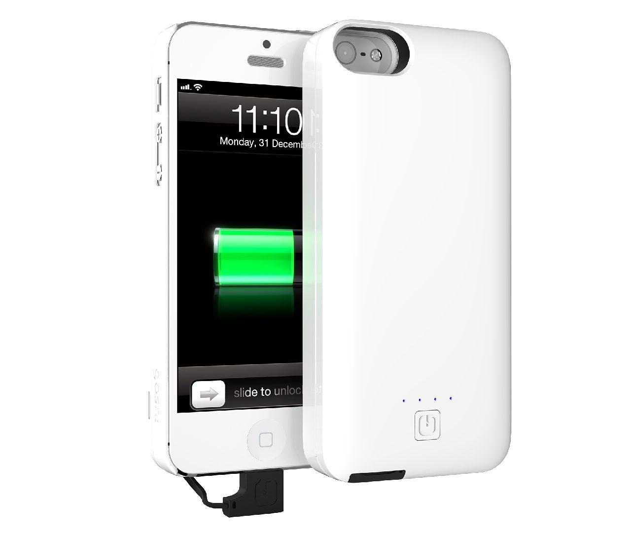 GOSH Schutzhülle mit Akku »Parallel 2500 mAh iPhone 5/5S Weiß«