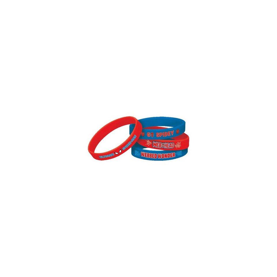 Amscan Armbänder Spiderman, 4 Stück