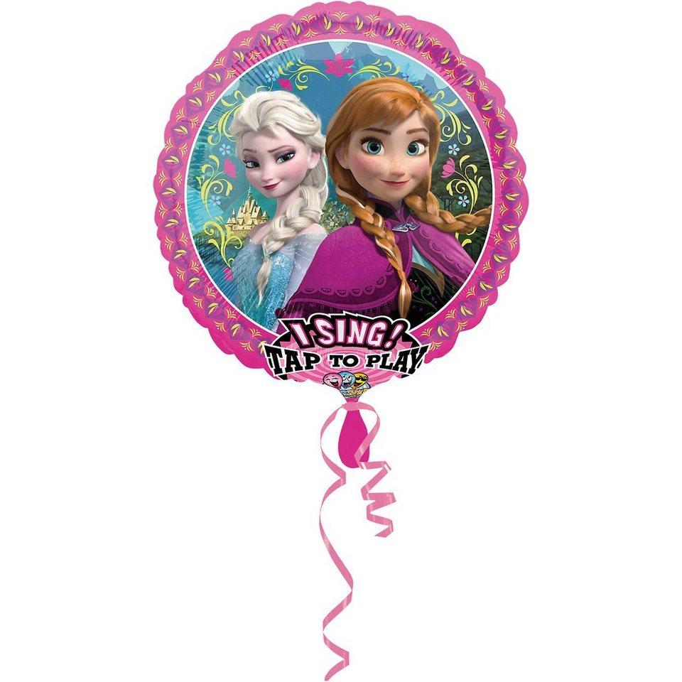 Amscan Singender Folienballon Die Eiskönigin in rosa
