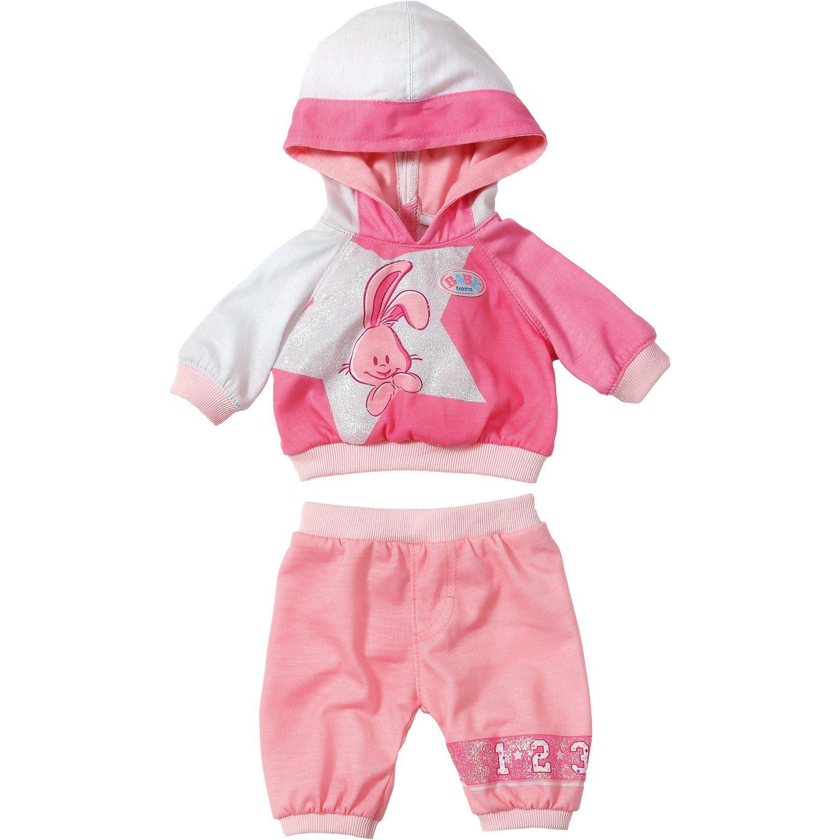 Zapf Creation BABY born Puppenkleidung Freizeitanzug Bunny + Stern