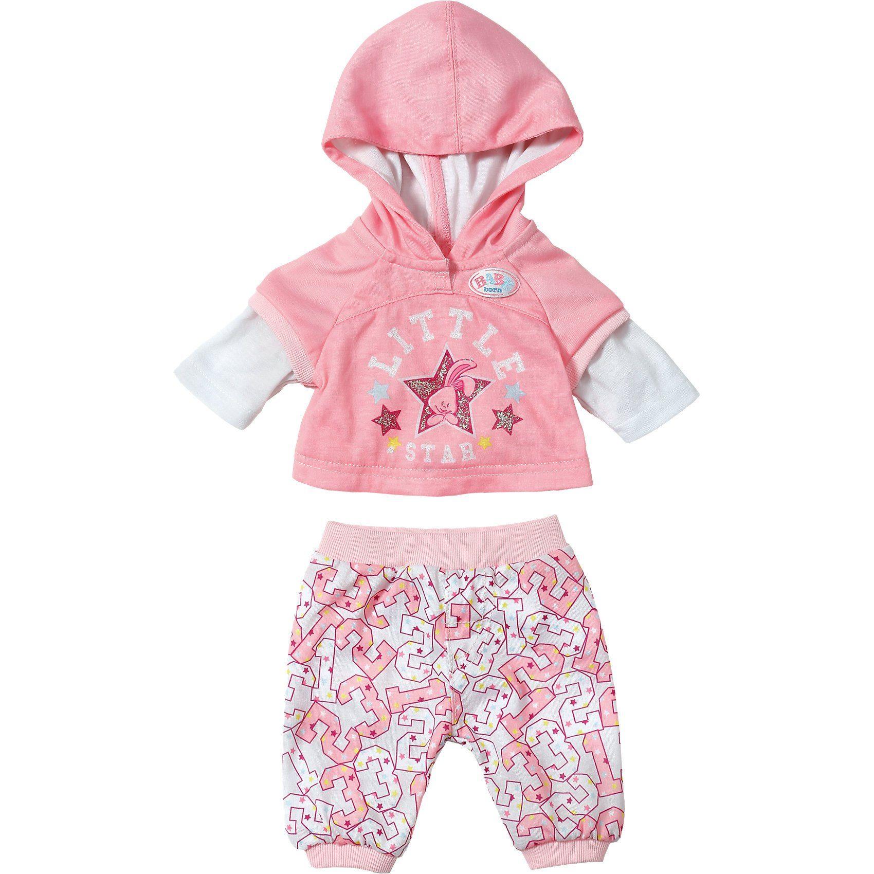 Zapf Creation BABY born® Puppenkleidung Freizeitanzug mit Schriftzug, 43 c