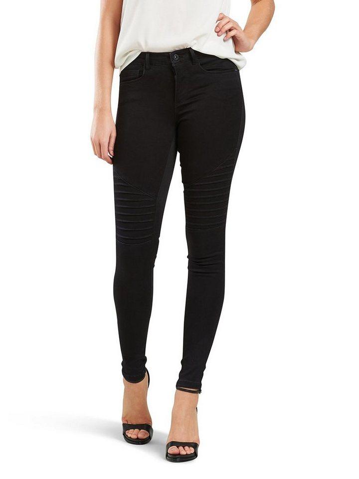 Only Royal regular Biker Skinny Fit Jeans in Black