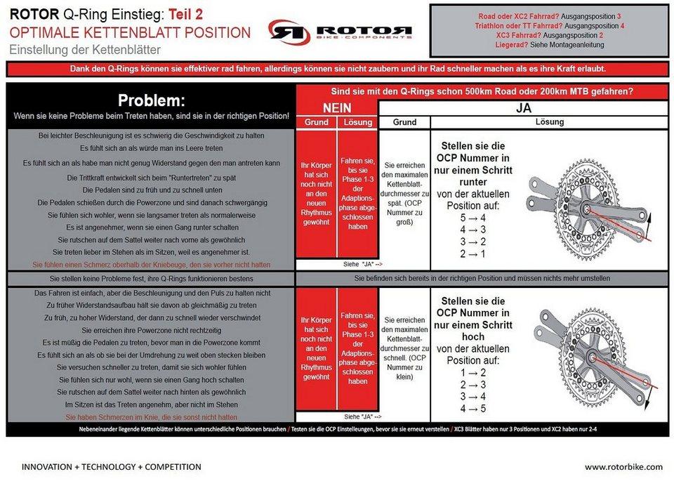 Rotor Kettenblatt »Q-Ring MTB QX1 Kettenblatt 76 mm 4-Arm 1x11-fach«