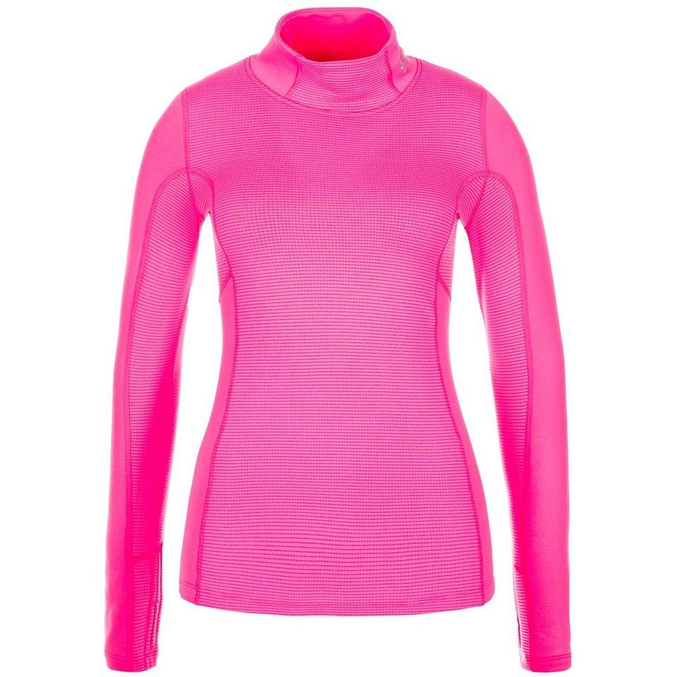 Under Armour® ColdGear Armour Stretch Trainingsshirt Damen in pink / silber
