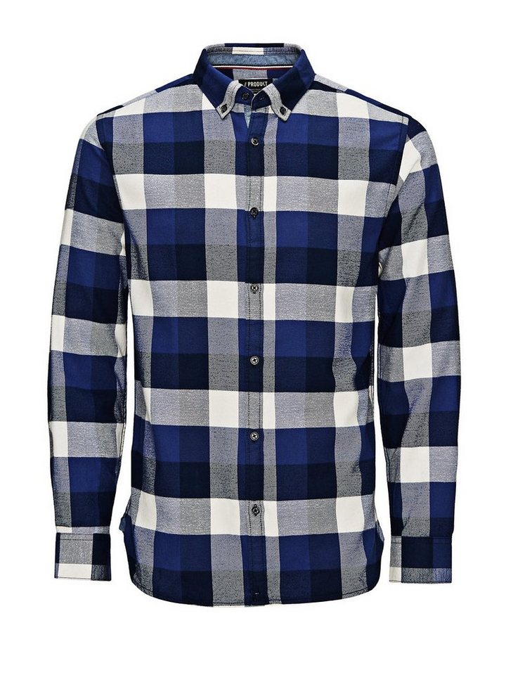 Jack & Jones Flanell- Freizeithemd in Peacoat