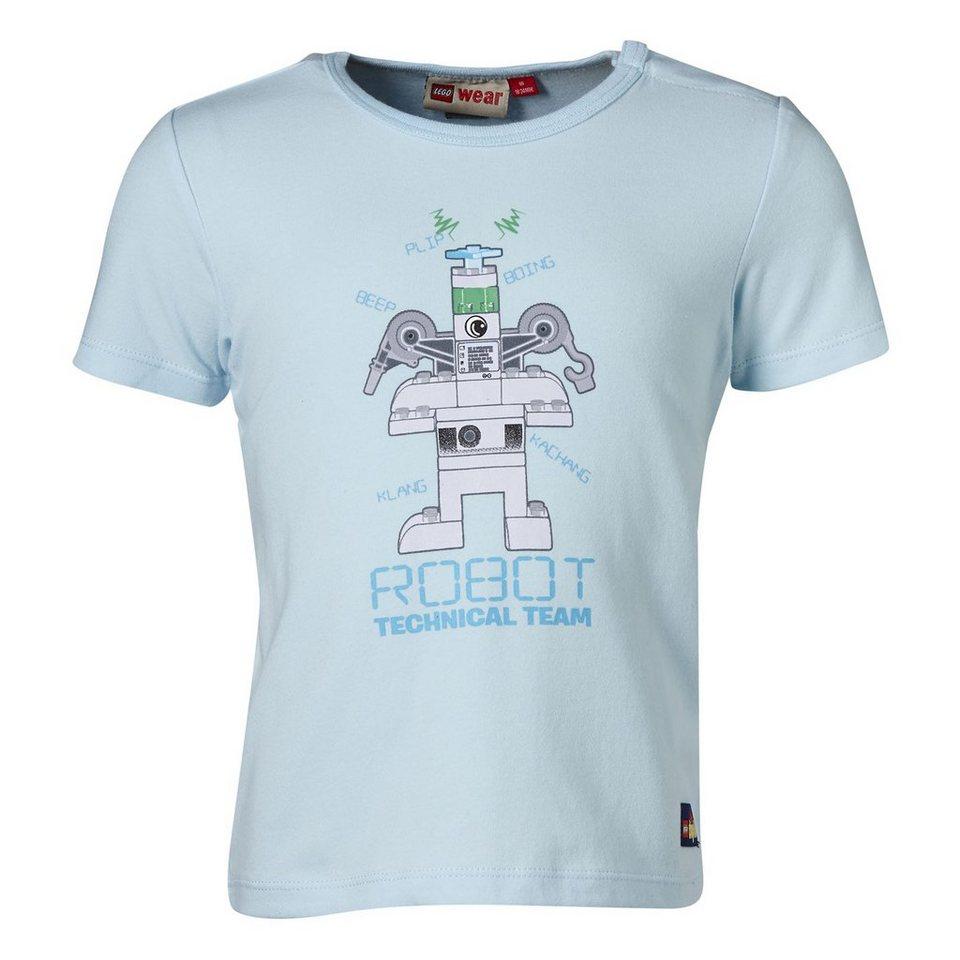 "LEGO Wear Duplo T-Shirt ""ROBOT Technical Team"" Shirt Glow in the Dark Trey in hellblau"