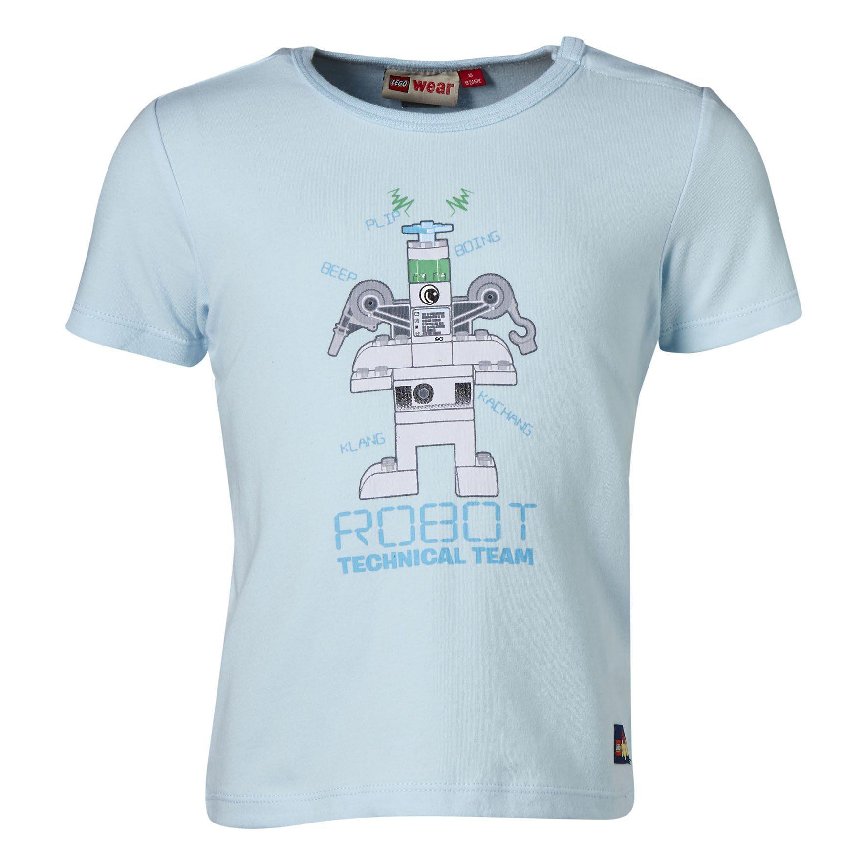 "LEGO Wear Duplo T-Shirt ""ROBOT Technical Team"" Shirt Glow in the Dark Trey"